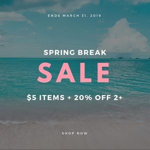 Accessories - Spring Break Sale